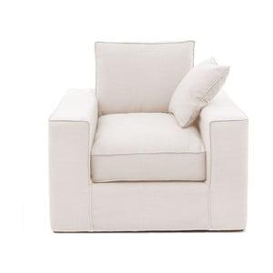 Kremowy fotel Vivonita Jane