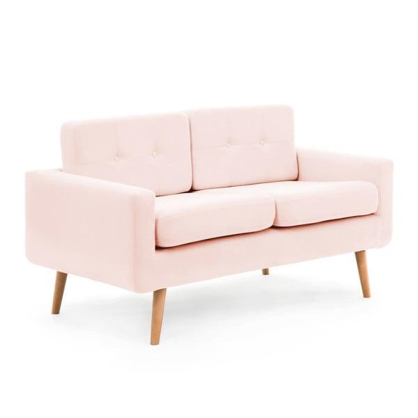 Pastelowo-różowa sofa 2-osobowa Vivonita Ina