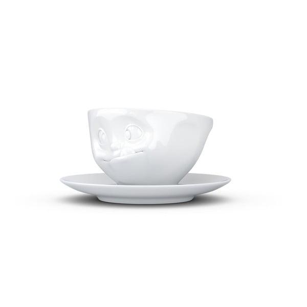 Biała porcelanowa łakoma filiżanka ze spodkiem 58products