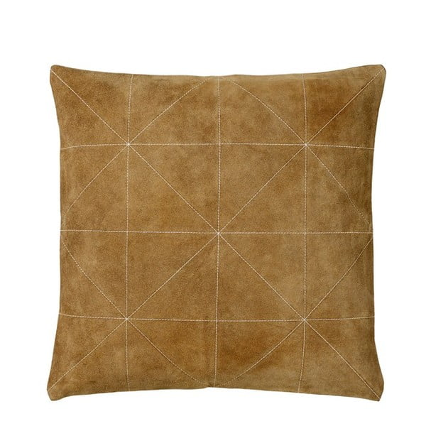 Poduszka z wypełnieniem Triangle Brown, 45x45 cm