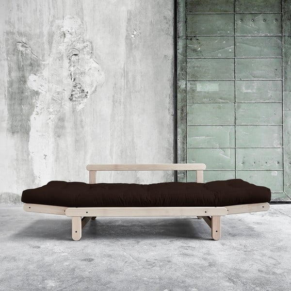 Sofa rozkładana Beat Beech/Brown