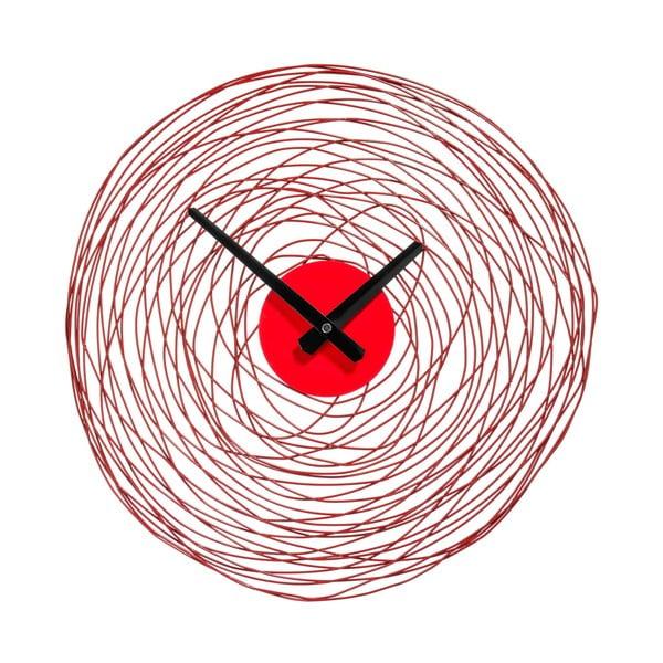 Zegar Red Swirl, 38 cm