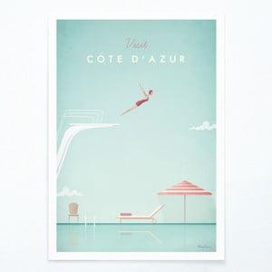 Plakat Travelposter Côte d'Azur, A2