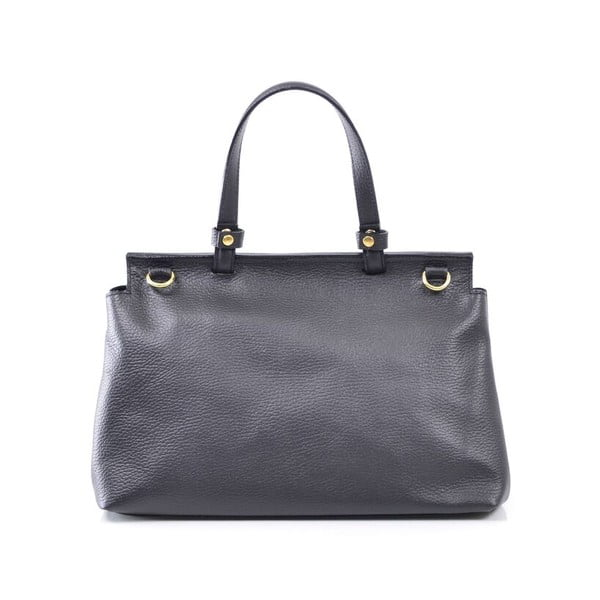 Skórzana torebka Isaure, czarna