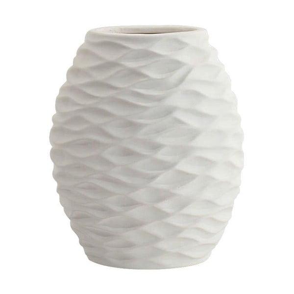 Ceramiczny wazon, biały, 24 cm