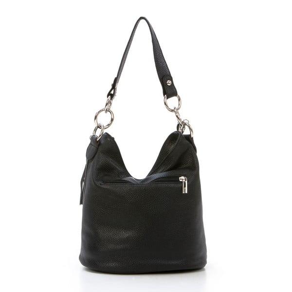 Skórzana torebka Luigi, czarna