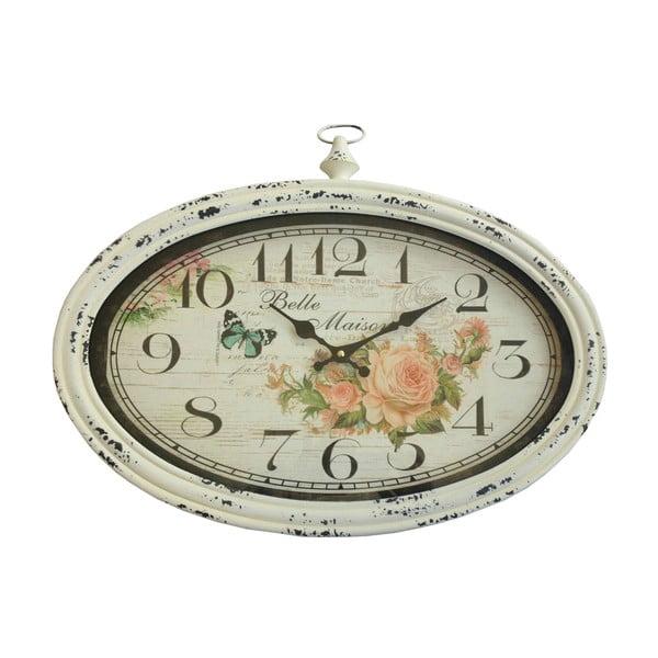 Owalny zegar ścienny Bolzonella Rose