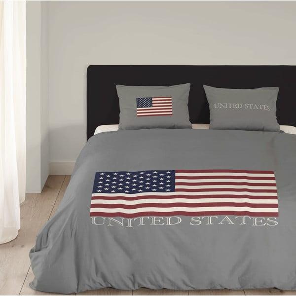 Pościel USA, 240x200 cm, szara