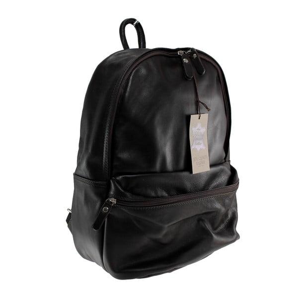 Czarny skórzany plecak Gio
