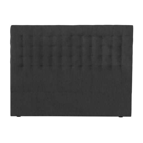 Ciemnoszary zagłówek łóżka Windsor & Co Sofas Nova, 180x120 cm