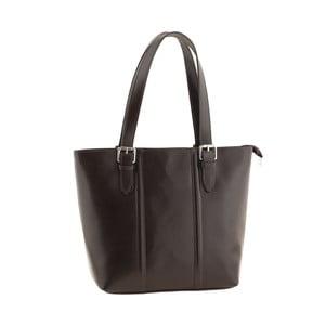 Skórzana torebka Italian Lady, ciemnobrązowa