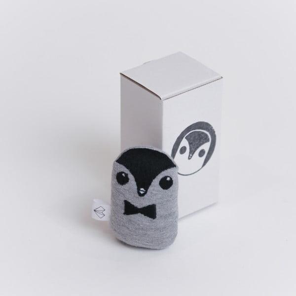 Mini Pluszak Pingwin w pudełku, czerwona muszka