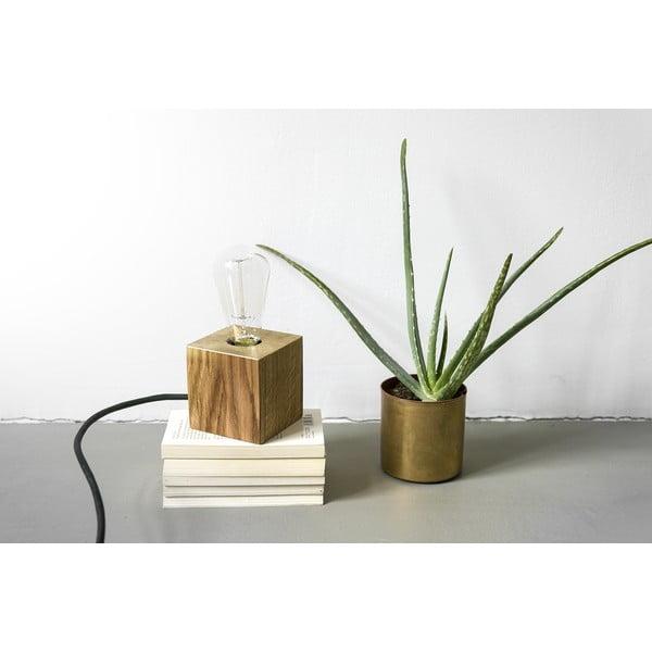 Lampa stołowa NUTSANDWOODS Oak Brass