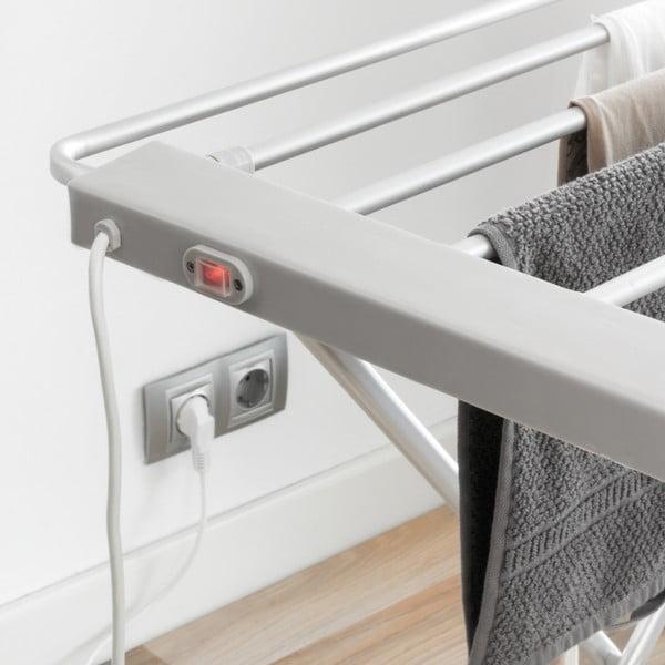 Biała składana elektryczna suszarka do bielizny InnovaGoods Clotheshorse
