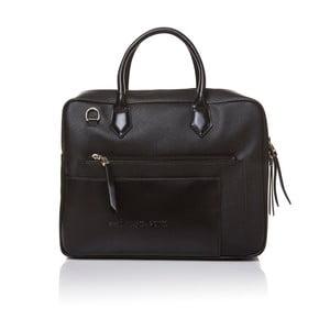 Skórzana torebka do ręki Marta Ponti Case, czarna