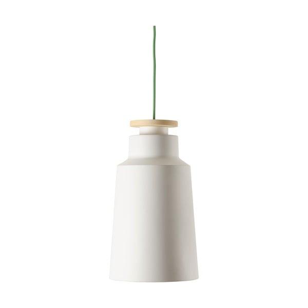 Żyrandol Street S, biały z zielonym kablem