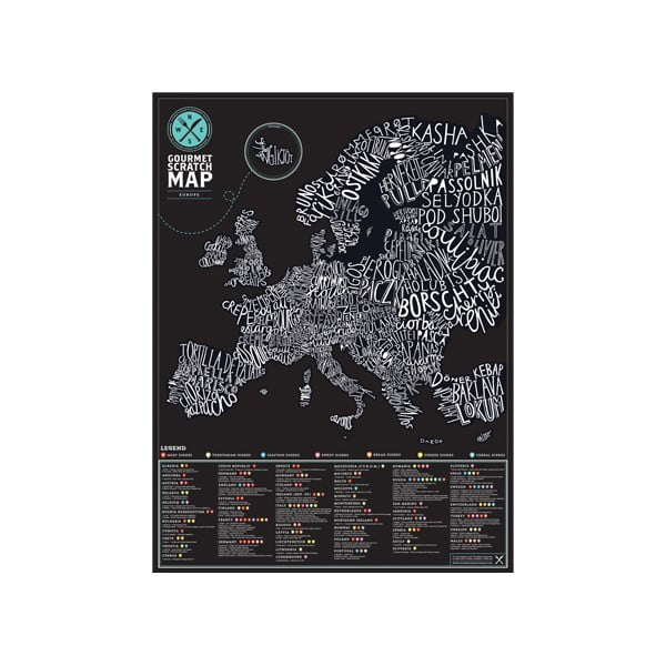 Mapa/zdrapka smakosza po Europie Luckies of London