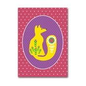 Plakat Żółty lisek, średni