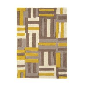 Wełniany dywan Matrix Code Yellow 120x170 cm