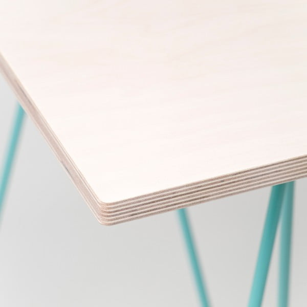 Blat Flat - drewno bielone, 180x80 cm