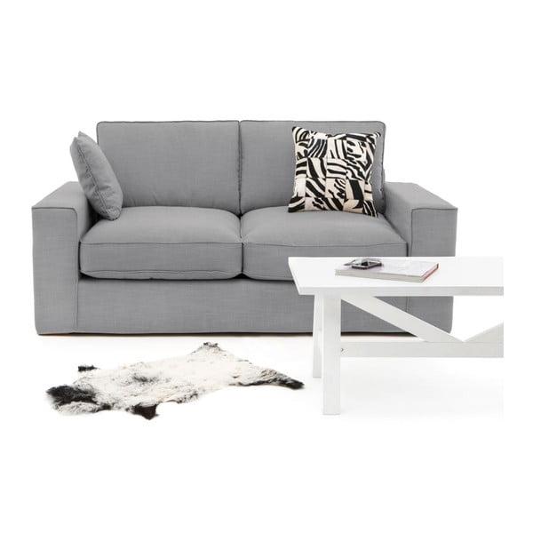 Jasnoszara sofa trzyosobowa Vivonita Jane