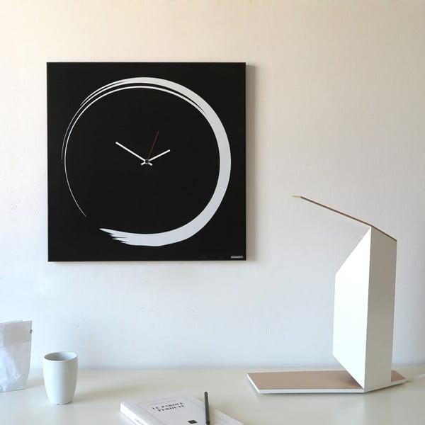 Zegar ścienny dESIGNoBJECT.it Enso Clock Black,50x50cm