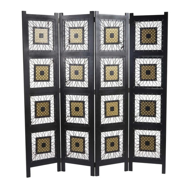 Parawan Room Ornament Black, 161x170 cm