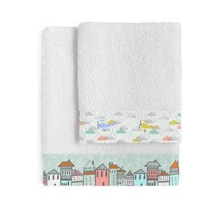 Zestaw 2 ręczników Little Village, 50x100 cm i 70x140 cm