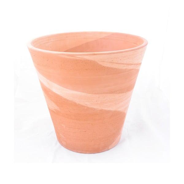 Doniczka ceramiczna Conico 43 cm, kremowa