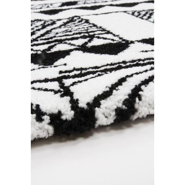 Dywan Aztec czarny/biały, 80x150cm