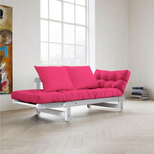Sofa rozkładana Karup Beat White/Magenta