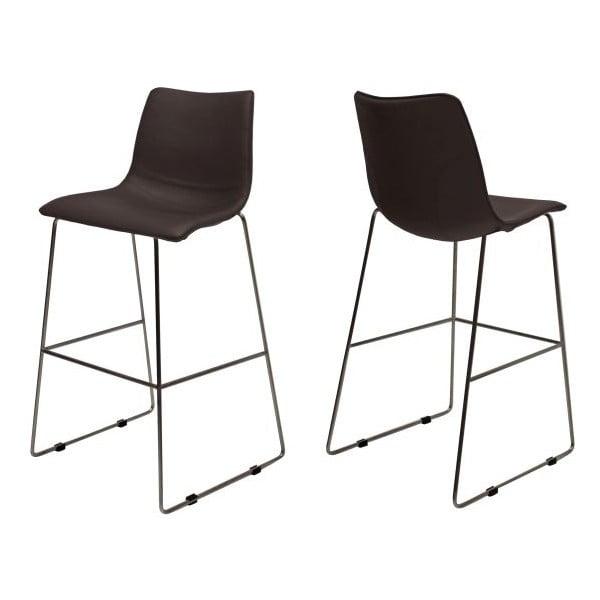 Zestaw 4 brązowych krzeseł barowych Canett Delta