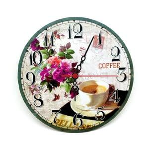 Zegar ścienny Coffee Flower, 30 cm