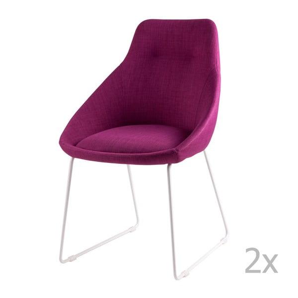 Zestaw 2 różowych krzeseł sømcasa Alba