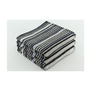 Zestaw 3 ręczników Collette Antracit, 50x100 cm