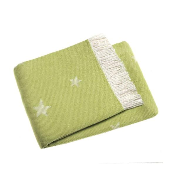 Limonkowy koc Stars 140x180 cm