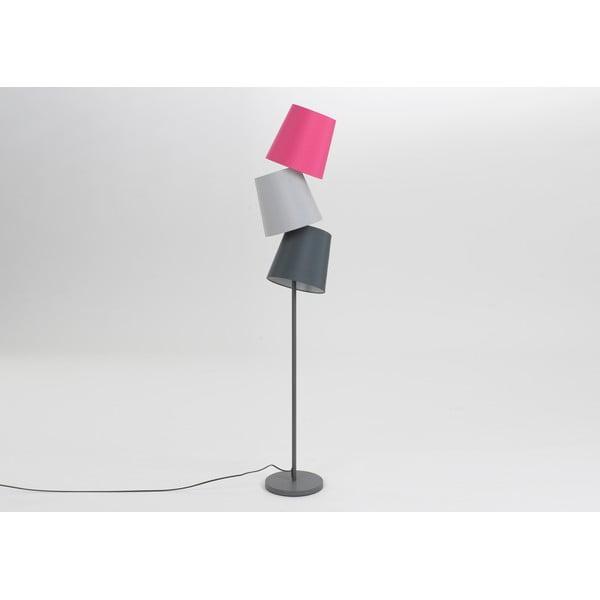 Lampa stojąca Three Lampshades Fuchsia