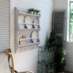 Półka wisząca na talerze White Antique