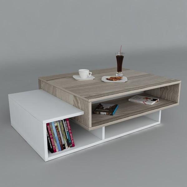Stolik kawowy Tab White/Cordoba, 60x105x32 cm