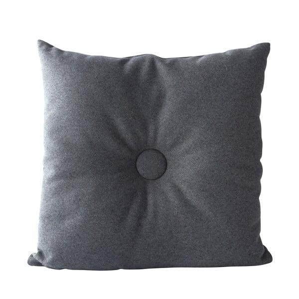Poduszka Buttons 45x45 cm, szara