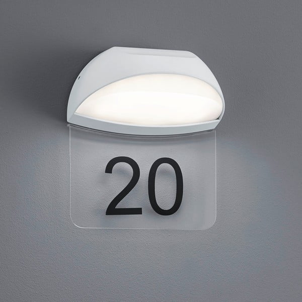 Kinkiet zewnętrzny Muga White, 19 cm