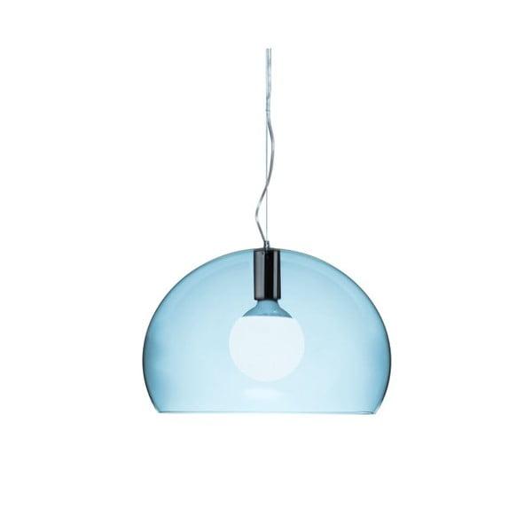 Mała jasnoniebieska lampa wisząca Kartell Fly