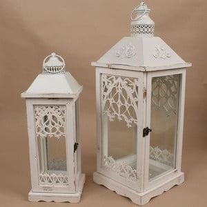 Zestaw 2 lampionów Dakls Vintage White