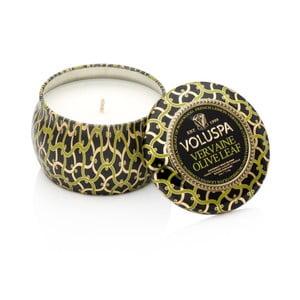 Świeczka o zapachu werbeny, palisandrowca i liści oliwkowych Voluspa Decorative, 25godz.