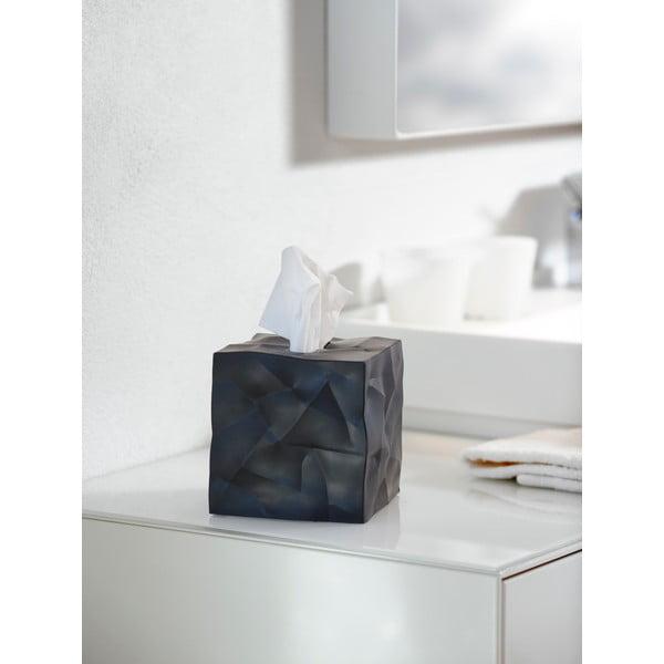 Czarny pojemnik na chusteczki Wipy Cube Black
