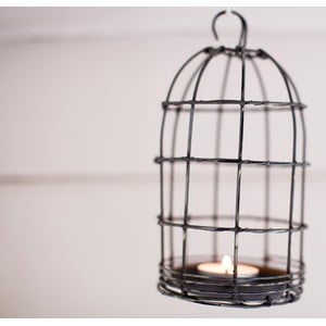 Lampion Bird Cage Light 19 cm, szary