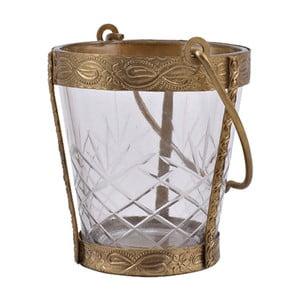 Świecznik w kształcie kubełka Vintage