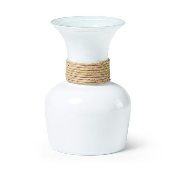 Biała wazon ze szkła z recyklingu La Forma Sarel
