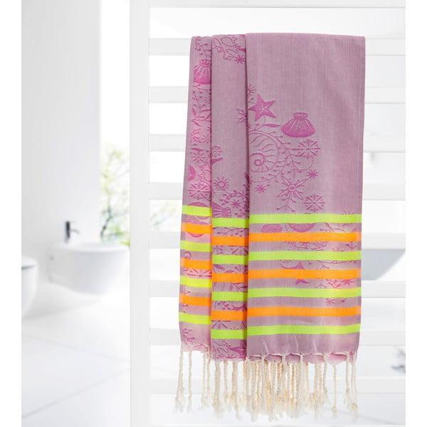 Ręcznik hammam Undersea Lilac, 105x175 cm