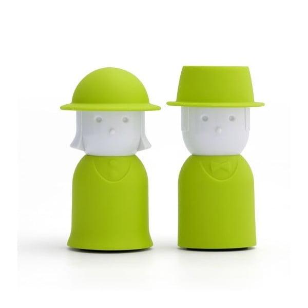 Solniczka i pieprzniczka QUALY Mr.Pepper & Mrs. Salt, zielone
